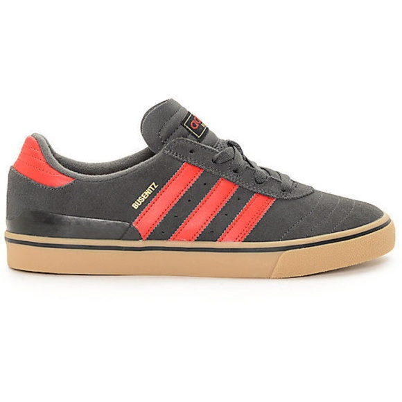 huge discount d163d 454ff adidas Other - adidas Busenitz Vulc Grey, Red,  Gum Shoes